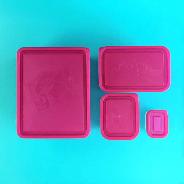 Bentology Box Set of 4 Containers - Raspberry