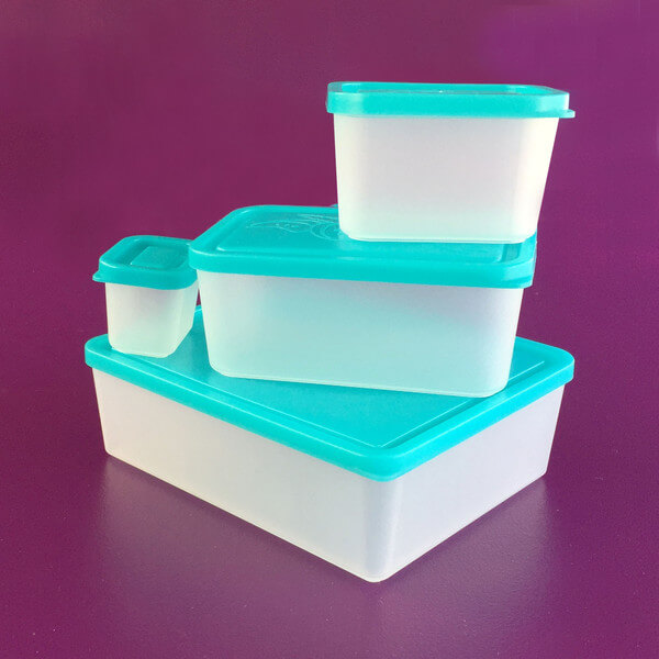 Bentology Lunch Box Set of 4 Lunch Containers - Turquoise