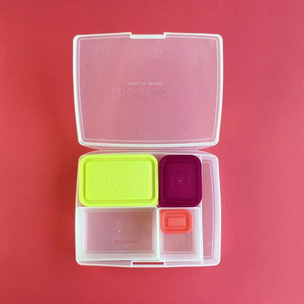 Bentology Bento Set - Classic 6 Pc. Lunch Box - Fruit