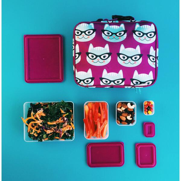 Bento Kit 2 - Sleeve & Boxes - Kitty/Raspberry