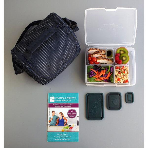 Bentology Portion Perfect Complete KIT – Pinstripe Cooler