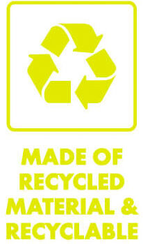 Bentology products are made of recycled material and are recyclable