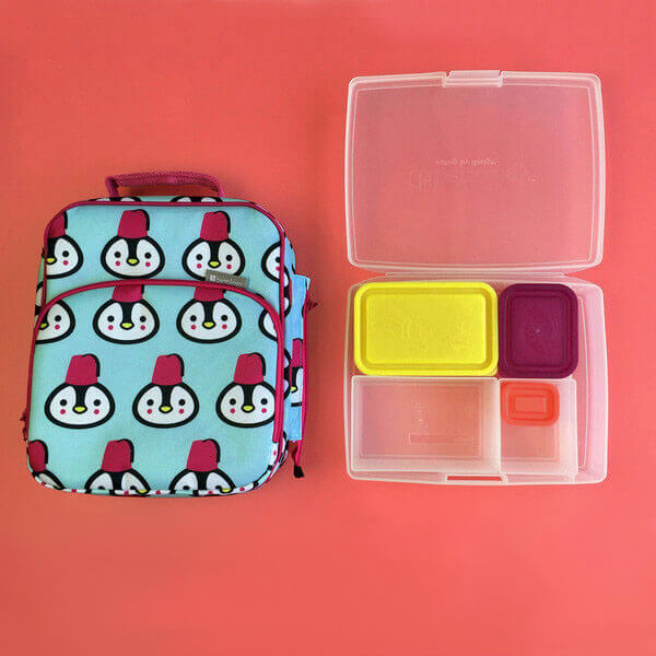Bentology Bento Lunch Box Kit - Insulated Lunch Bag & Bento Box - Penguin