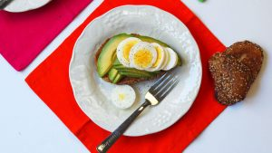 Portion Perfect Mommy and Me Boiled Eggs on Toast with Avocado Made to Measure for the Whole Family
