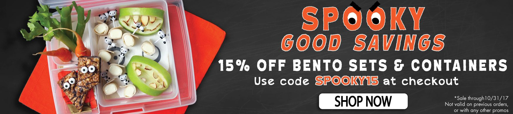 Spooky good savings on Bento Lunch Boxes and Container Sets!