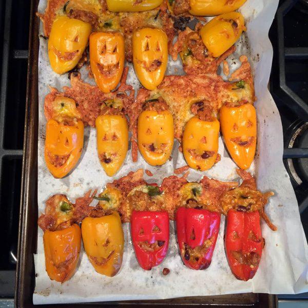 stuffed seasonal funny, yummy peppers