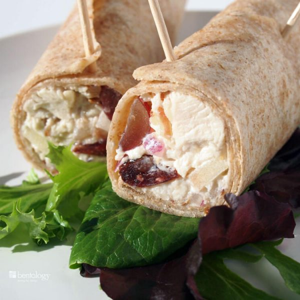 Chicken Wrap with Grapes and Cranberries