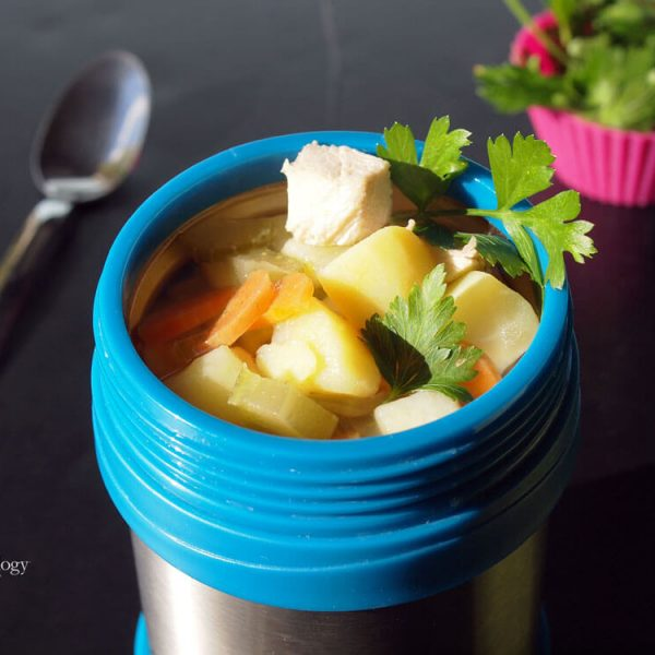Chicken Soup, Quick and Easy, Kids' Favorite in a Bento Jar