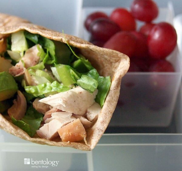 Portion Perfect Bento Box Lunch with Chicken Avocado Wrap