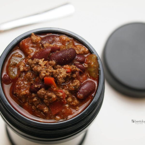chili in a bento jar for lunch