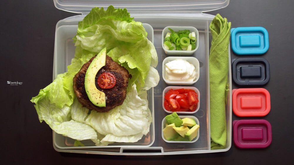 paleo style burgers for a bento box lunch
