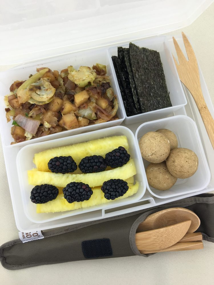 Allergy free and vegan bento box