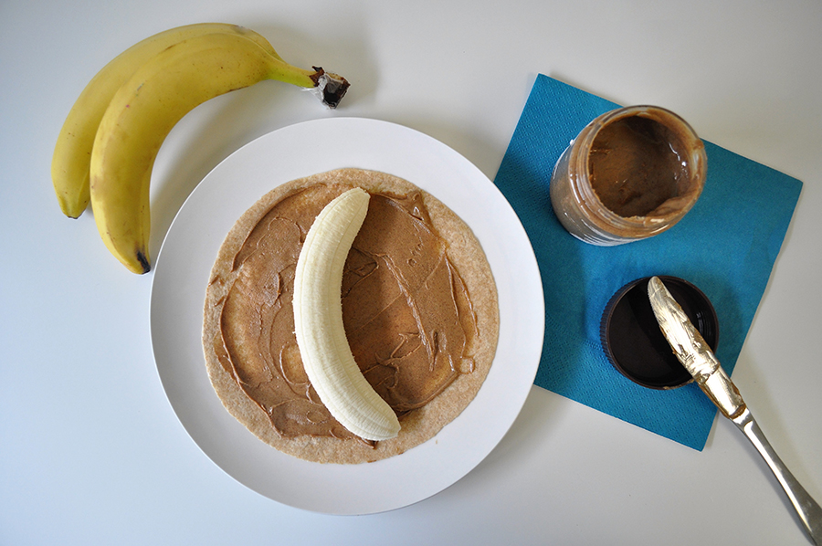banana nut butter wraps