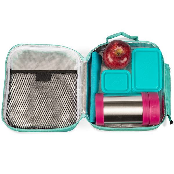 insulated lunch tote with bento box set turquoise bentology. Black Bedroom Furniture Sets. Home Design Ideas