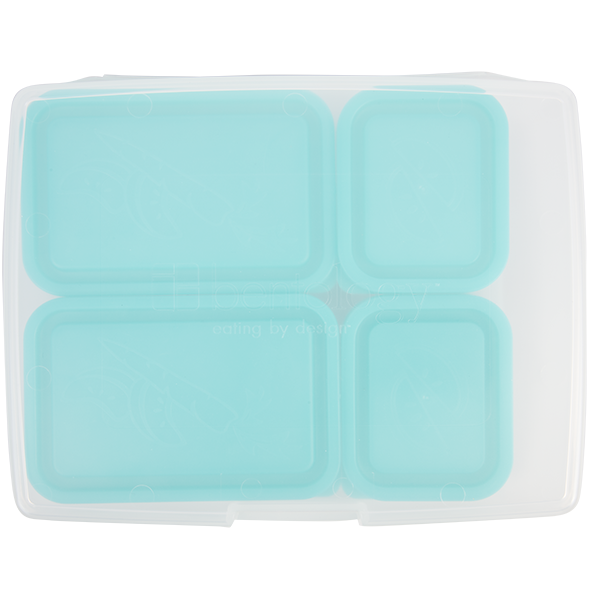 insulated lunch sleeve with bento box set turquoise bentology. Black Bedroom Furniture Sets. Home Design Ideas