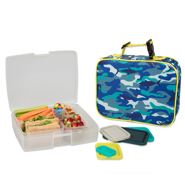 insulated lunch sleeve with bento box set camo bentology. Black Bedroom Furniture Sets. Home Design Ideas