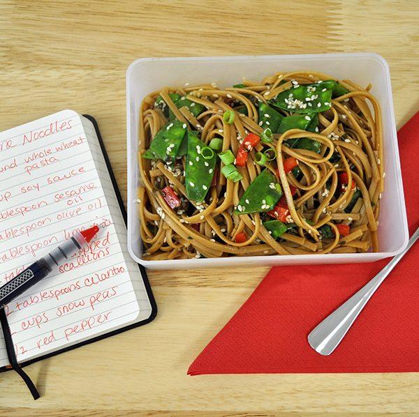 healthy sesame noodles