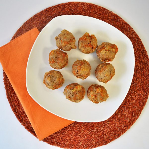 healthy carrot cake mini muffins
