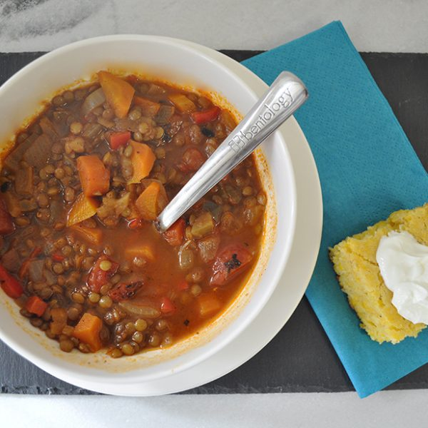 bentology Mexican lentil soup