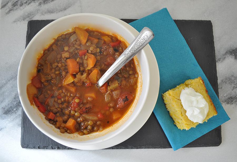 bentology Mexican lentil soup