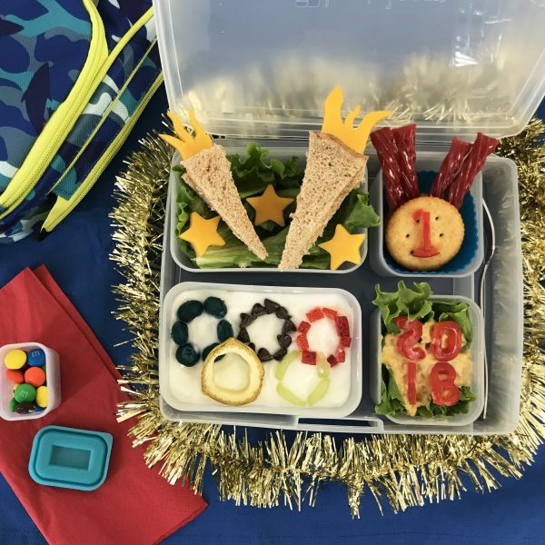 olympics themed bento box