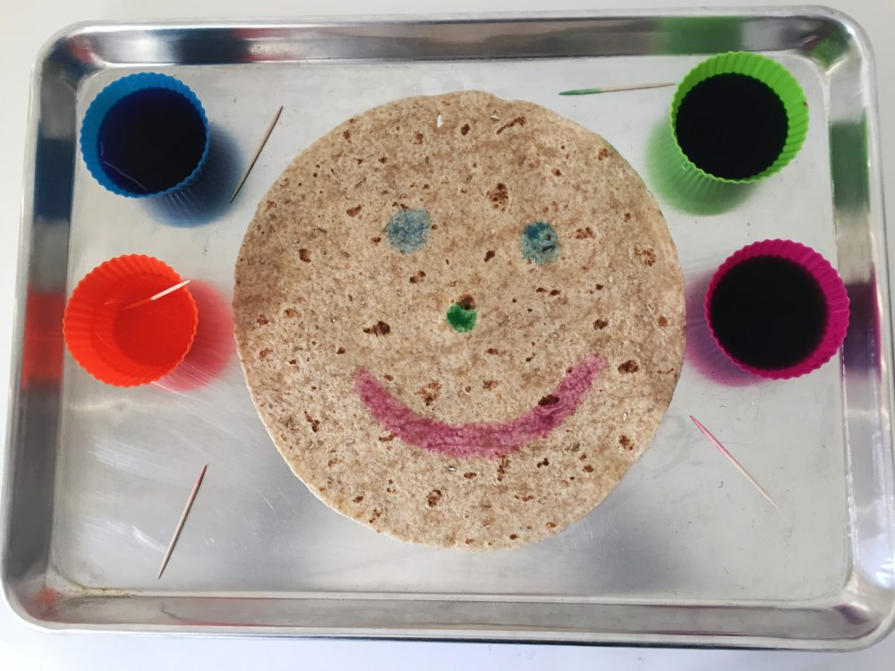 edible tortilla art